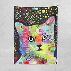 Cat wall decor is an easy way to add anoverload of cutenessinto your home decor theme. In fact cat wall decor comes in many shapes and forms. You can find all kinds of cat wall art such as cat wall clocks, cat wall hangings, cat wall paintings and so much more.Naturally you will notice that cat wall decor has the potential to work well for any room in your home.  Lume.ly - Colorful Cute Kitten Kitty Cat Art Large Wall Hanging Tapestry for