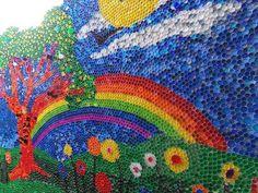 Murales con tapones de plástico (4)