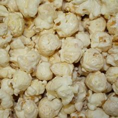 Our freshly popped gourmet white Vanilla Popcorn is candy coated and is a perfect complimentary color for baby showers, weddings or corporate events. Delicious, fluffy fresh popcorn looks great on any party buffet table! Popcorn Snacks, Flavored Popcorn, Gourmet Popcorn, Popcorn Recipes, Snack Recipes, Cooking Recipes, Popcorn Bowl, Candy Popcorn, Pop Popcorn