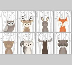 woodland animal prints - Google Search