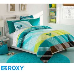 Highlights this incredible roxy summer daze seven piece bed in a bag