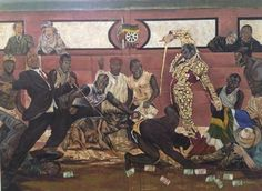 Ayanda Mabulu ~ Yakhal'inkomo ~ (Black Man's Cry) controversial Zuma / Marikana painting pulled from Jo'burg Art Fair