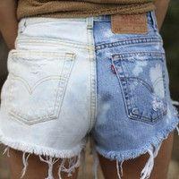 Half And Half, High Wasted Shorts