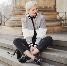 bomber jacket with edgy shoes 2017