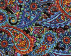 Paisley Kaleidoscope Timeless Treasures Fabric 1 yard