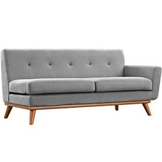 LexMod - Engage Right-Arm Loveseat in Expectation Gray
