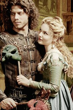 "Francois Arnaud & Holliday Grainger from the ""Borgia""  series. (Cesare & Lucrecia Borgia)"