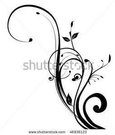 Beautiful black swirl floral design Clip Art Vector and Illustration. Beautiful black swirl floral design clipart vector EPS images available to search from thousands of royalty free stock art and stock illustration designers. Elegant Tattoos, Cute Tattoos, Beautiful Tattoos, Tatoos, Swirly Tattoo, Tattoo Art, Tattoo Addiction, Stencil Patterns, Pattern Art