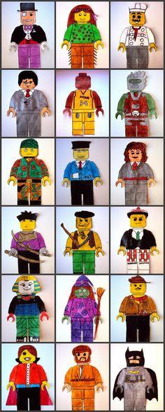 Plastiquem: INVENTEM PERSONATGES DE LEGO
