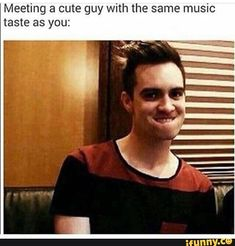 this neVER HAPPENS THO<<<<<<cause when I start talking to them I mention my 'favorite band' and they either say 'oh, is your favorite band One Direction' or 'who's My Chemical Romance? Emo Band Memes, Emo Bands, Music Bands, Panic! At The Disco, My Chemical Romance, Hardcore, Grunge, Indie, Music Memes