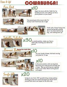 I love these girls. They workout on the beach and have quick, easy workouts that tone your body fast!