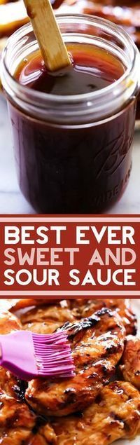 BEST EVER Sweet and Sour Sauce. A delicious blend of flavors and ingredients come together to create the BEST EVER Sweet and Sour Sauce. This recipe is perfect to lather, coat or dip your food in!# sweet and sour sauce # the best sweet and sour sauce Homemade Seasonings, Homemade Sauce, Grill Dessert, Salsa Dulce, Cuisine Diverse, Marinade Sauce, Chutneys, Barbacoa, Food To Make