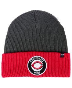 classic fit a1273 94308  47 Brand Cincinnati Reds Ice Block Cuff Knit Hat   Reviews - Sports Fan  Shop By Lids - Men - Macy s