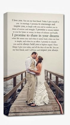 I like these vows. your wedding portrait / photo and your wedding vows or first dance lyrics ! such a special keepsake. Post Wedding, Dream Wedding, Simple Wedding Vows, Writing Wedding Vows, Trendy Wedding, Perfect Wedding, Wedding Bells, Wedding Ceremony, First Dance Lyrics