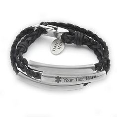 Lizzy James Mini Addison Wrap Bracelet Silverplate in Natural Black Braided Leather * Thanks for seeing our photo. (This is our affiliate link) Silver Bracelets, Jewelry Bracelets, Wrap Bracelets, Medical Id Bracelets, Engraved Bracelet, Braided Leather, Teardrop Earrings, Stainless Steel Bracelet, Pearl Bracelet