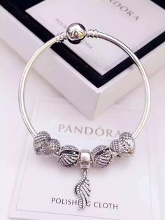 50% OFF!!! $159 Pandora Bangle Charm Bracelet Silver. Hot Sale!!! SKU: CB01757…