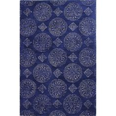 Beachcrest Home Villanova Hand-Tufted Navy Area Rug Rug Size: