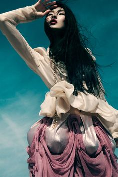 Dinara Chetyrova in Malgorzata Dudek, photographed by Jamie Nelson for Elle Vietnam July 2011. #fashion #photography