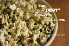 "Pinner says: This popcorn seasoning recipe is all natural and totally addictive. Everywhere we take it someone asks us for the recipe - so glad I made the mistake I did to come up with this best popcorn recipe!"" I love that it has Turmeric in it...always looking for ways to get this amazing herb into my body!"