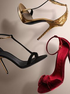 Evening sandals in deep jewel tones from the Burberry Autumn/Winter 2014 collection