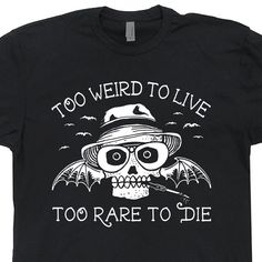 Hunter S Thompson T SHIRT Fear and Loathing in Las Vegas Gonzo mens / womens T Shirts