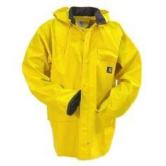 Carhartt Jackets: Men's Yellow 100100 701 Surrey Waterproof Rain Jacket #CarharttClothing #DickiesWorkwear #WolverineBoots #TimberlandProBoots #WolverineSteelToeBoots #SteelToeShoes #WorkBoots #CarharttJackets #WranglerJeans #CarhartBibOveralls #CarharttPants