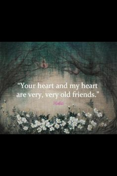 Heart to heart, soul to soul... A very special meeting tonight: deepening soul connections. <3