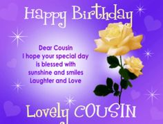 Happy Birthday Cousin Quotes, Wishes, Messages and Images