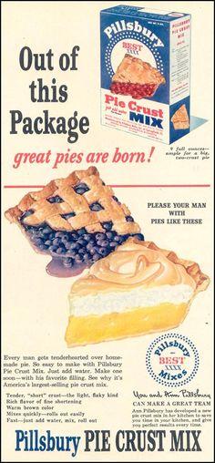 Vinyage Pillsbury Pie Crust Mix ad.