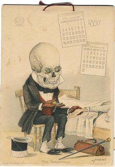 From the Antikamnia Skeleton Calendar, 1897.
