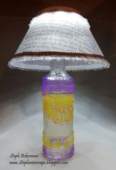 etchall etched glass lamp base and Lighten Up kit http://stephaniescraps.blogspot.com/2016/04/friendship-lamp.html