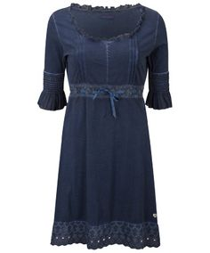 Joe Browns Wuthering Heights Dress - fabulous fluid jersey dress with pintucks and lace for an effortlessly flattering look