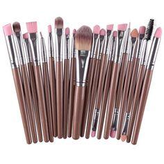 7.44$  Buy now - http://dilgp.justgood.pw/go.php?t=182993504 - Practical Multifunction 20 Pcs Plastic Handle Nylon Makeup Brushes Set 7.44$