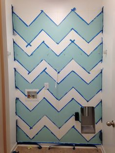 Chevron Wall ... Laundry Room Makeover - Our Rhodes to Happiness