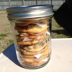 Cookies in a jar! Just like cake in a jar only with cookies! Great for a deployed military member or as a gift for family! Check out shellys home baked jars on Etsy http://www.etsy.com/people/shellyshomebakedjars