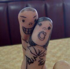 Wish I had the balls to tattoo my fingers lol Finger Love