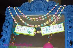 Easter Table scape @lilylaundryblog  Hoppy Easter printable