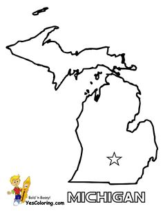 Michigan Coloring Sheets - Yahoo Image Search Results | Happy MI Day ...