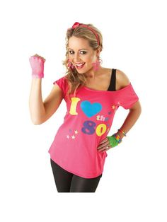 I Love the 80's T Shirt - Ladies Costume | very.co.uk