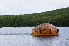 floating creatura project constructed by summer camp kids - designboom | architecture
