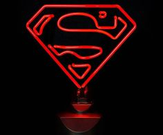#Superman is still the gold-standard as far as caped crusaders go. He holds up the light so all you earthlings can see the way. Now you can have your own personal Superman #light. - http://thegadgetflow.com/portfolio/superman-neon-sign/