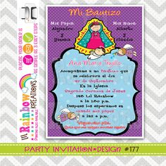 177 DIY Virgencita Plis 4 Party Invitation Or by LilRbwKreations