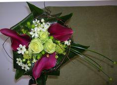 bruidsboeket - avalanche, paarse aronskelk falenopsis boechout