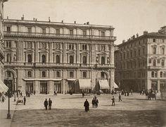 1900: Piazza della Repubblica, pretty the same as today! Note that Colonna dell'Abbondanza is not there! Where is it?