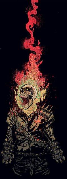 ✧ Marvel Comics : Ghost Rider on Behance Comic Book Characters, Comic Character, Comic Books Art, Comic Art, Marvel Art, Marvel Dc Comics, Marvel Heroes, Ghost Rider Marvel, Ms Marvel