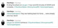 cia.gob fue atacada por Anonymous