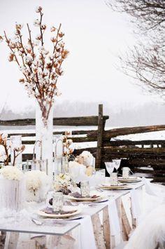 outdoor winter wedding tablescape #rockmywinterwedding @Derek Smith My Wedding
