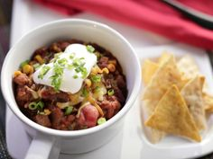 Four-Alarm Rib-eye Chili Recipe -- This sounds delicious, and caught my attention on Valerie's show today! My Mom's chili recipe is wonderful, but this is another to try for variation. Chili Recipes, Snack Recipes, Cooking Recipes, Cooking Chili, Crockpot Recipes, Chili Food, Dinner Recipes, Cooking Ribs, Cooking Food