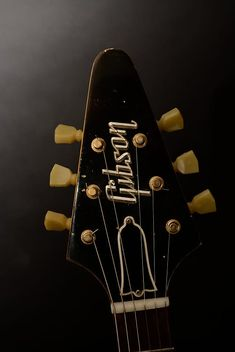 A very Rare byrd indeed, completely original, one of the very first V,s made in 1958 as it has the black stinger on the back of the headstock which was done at Gibson Guitars, Fender Guitars, Gibson Flying V, Jim Morrison Movie, Fender Stratocaster, Neil Young, Kendrick Lamar, Funny Movies, Fleetwood Mac