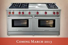 New Wolf gas ranges arrive March 2013!